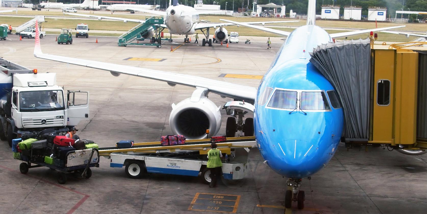 Eastpak entering plane