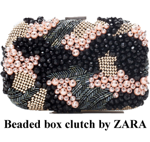 Bag at You Beaded box clutch ZARA