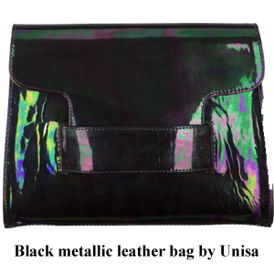 Bag at You Black Metallic leather bags Unisa