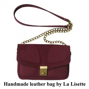 Bag at You La Lisette handmade shoulder bag burgundy