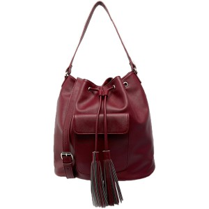 Bag at You ASOS Duffle Bag with Pocket and Tassle Detail