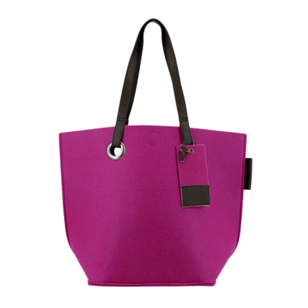 Bag at You - Zebra Trends Natural Bag Vilt Shopper magenta