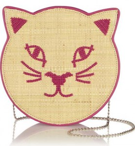 Bag at You - Charlotte Olympia - pussycat embroidered raffia and leather shoulder bag