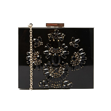 Bag at You - Skinnydip Black Embellished Box Clutch