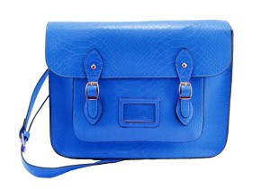 Bag at You - The Marble Arch Satchel Bag by LYDC in Blue Snakeprint