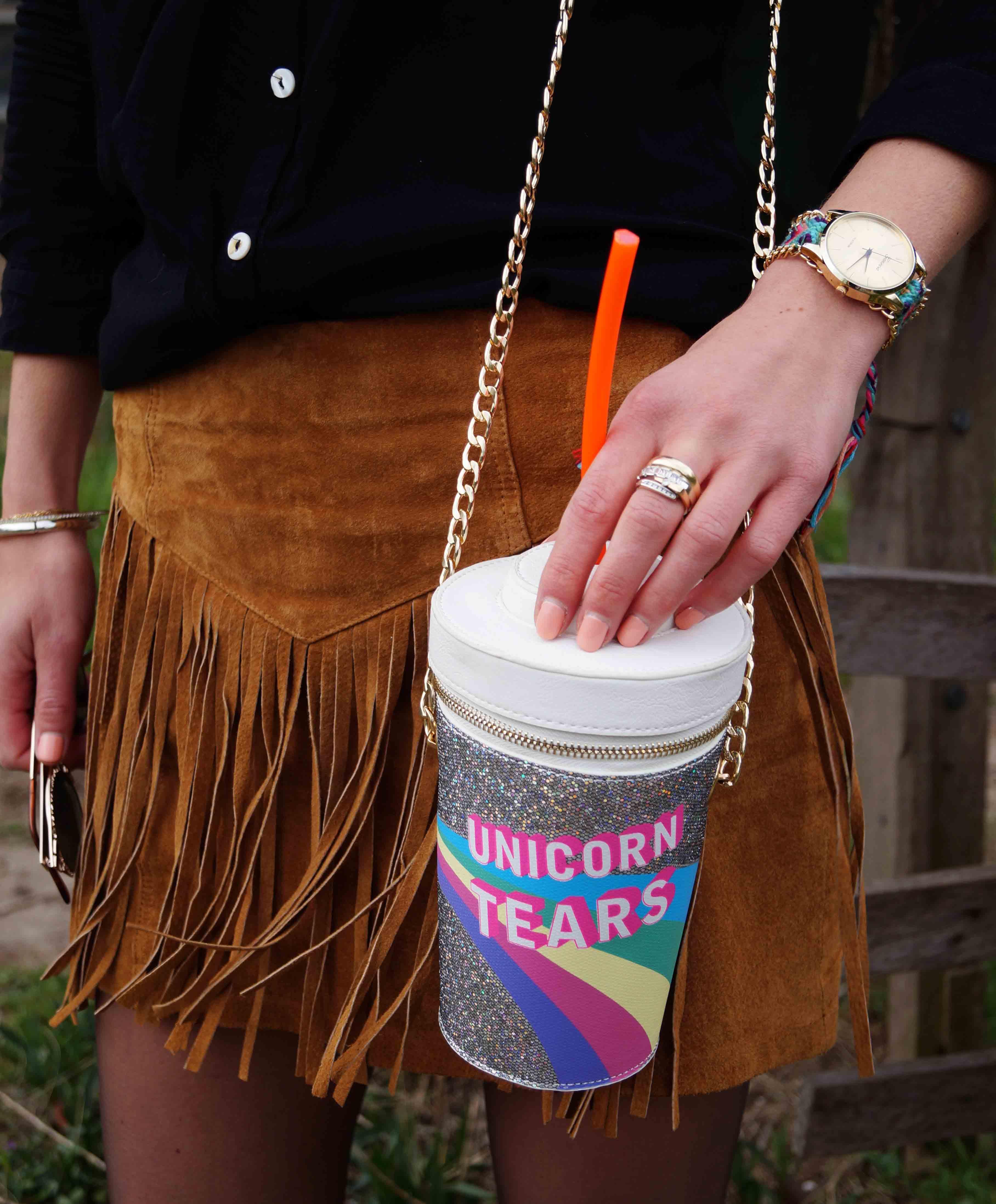 Bag at You - Fashion Blog - Festival tas - Party Look - Milkshake - Unicorn schoudertas