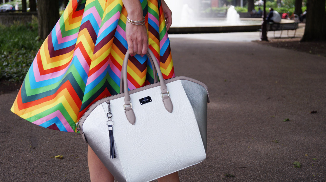 Bag-at-You---Fashion-Blog---Paul's-Boutique-bags---Tassen---Colorful-skirt-and-white-bag---Featured