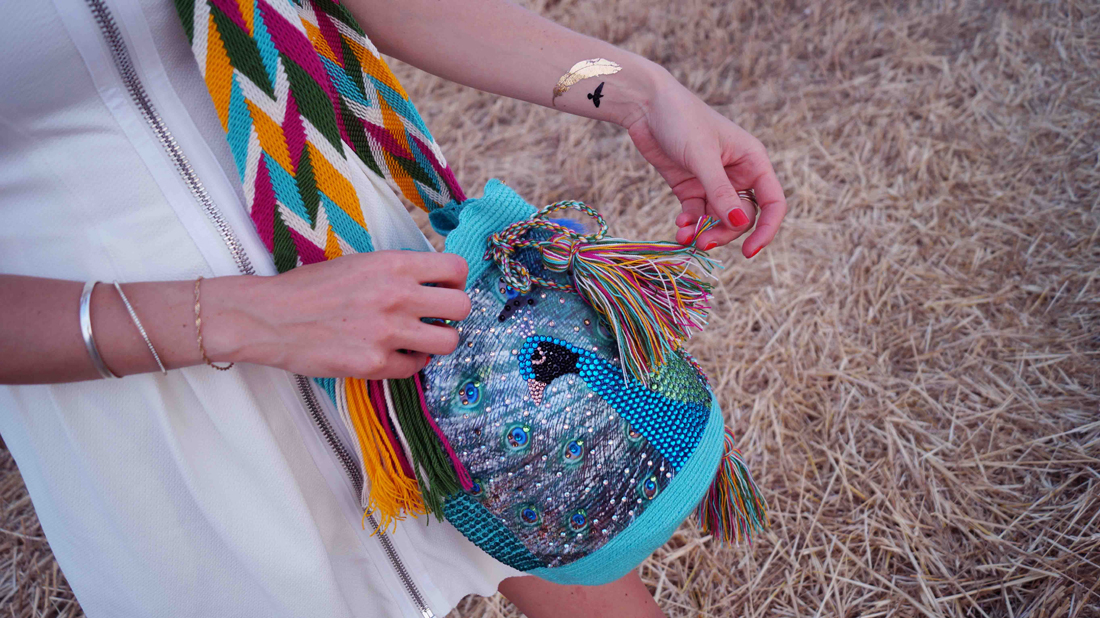 Bag at You - Fashion Blog - THINK X WAYUU BAGS - Pavo Real - Think Imaginary Tattoos - Wayuu Bag