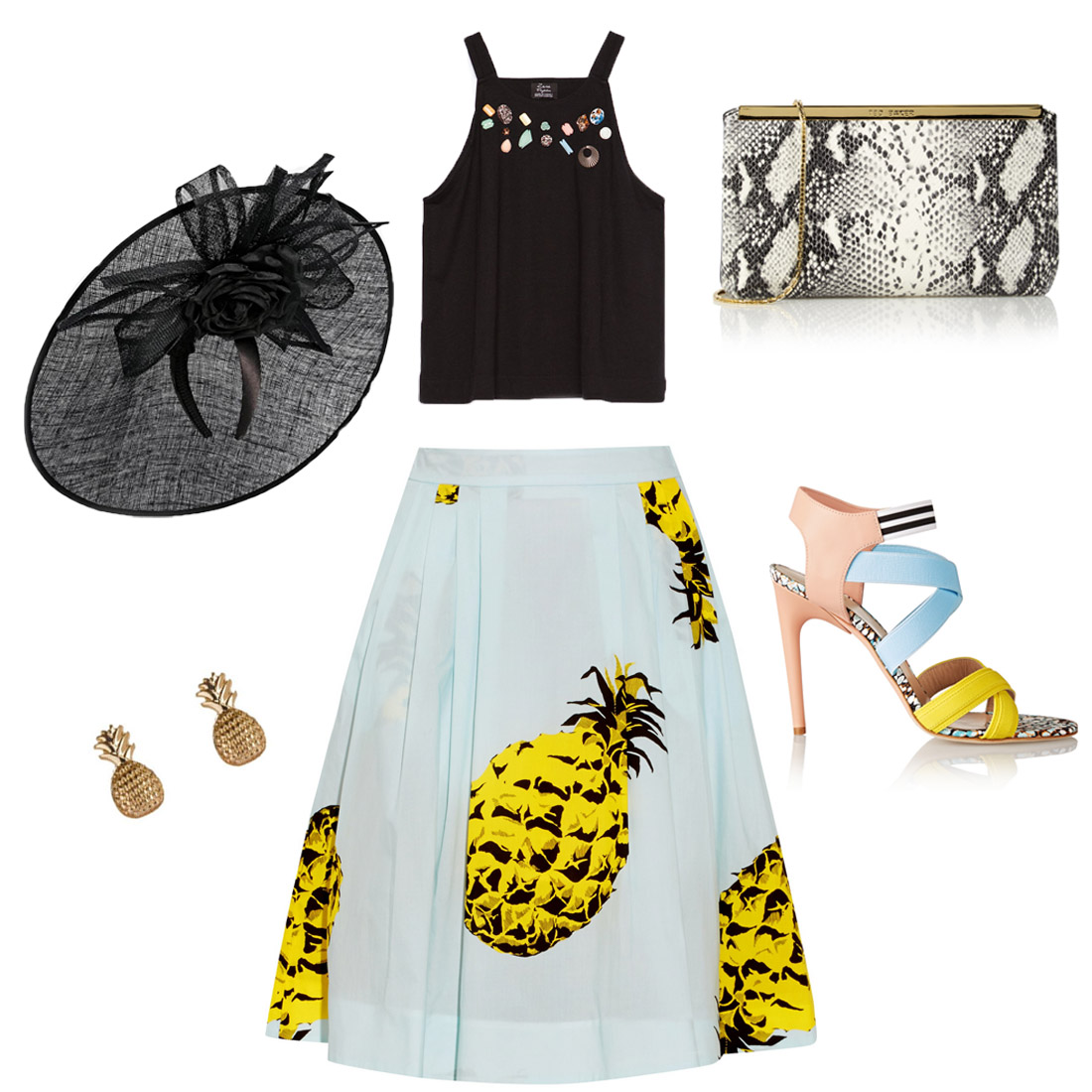 Bag at You - Fashion Blog - Wedding look 3 - Bruiloft outfit 3 - Pinapple Blues - Ananas Blauw