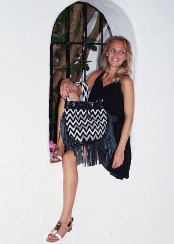 Bag at You - Fashion blog - La Bendicion in Marbella - Little Black dress with Mochila Bag - Colombia Wayuu