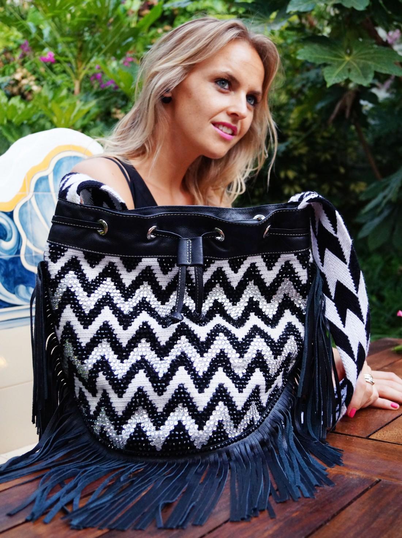 Bag at You - Fashion blog - La Bendicion in Marbella - Little Black dress with Mochila Bag - Wayuu Colombia