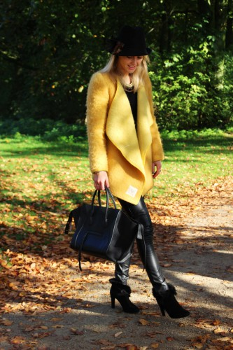 Bag-at-you---Fashion-blog---Celine-Phantom-Bag---Yellow-coat-leather-pants---Vondelpark