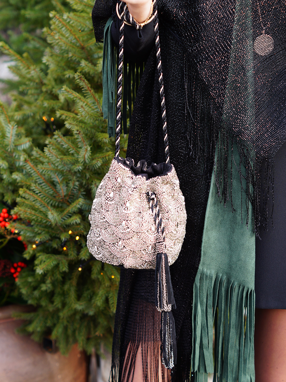 Bag-at-You---Fashion-blog---Christmas-outfit---Spicy-Scarves---Embellished-bucket-bag