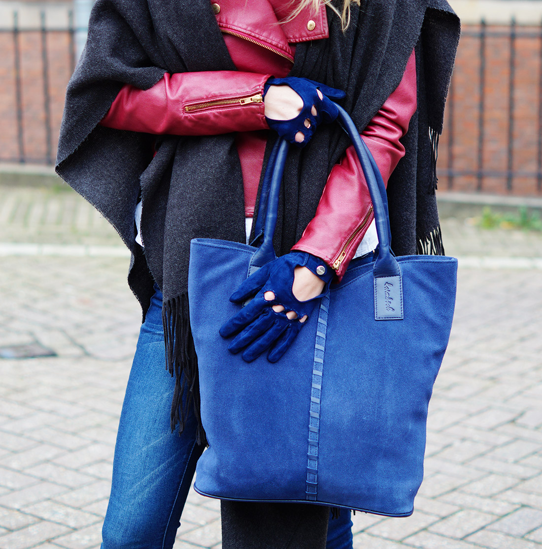 Bag-at-You---Fashion-blog---Denim-leather-jacket---Laimbock-shopper-and-gloves