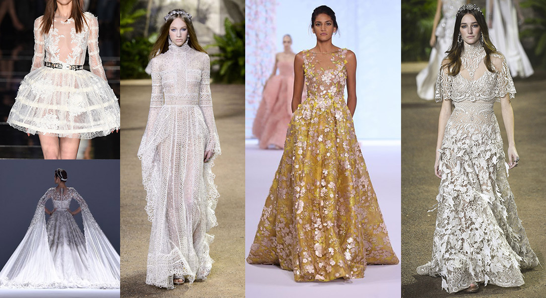 Wedding dress inspiration from the couture catwalks in for Designer haute couture dresses