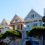 Running along the Painted Ladies in San Francisco..!