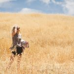 Playing in the golden fields!