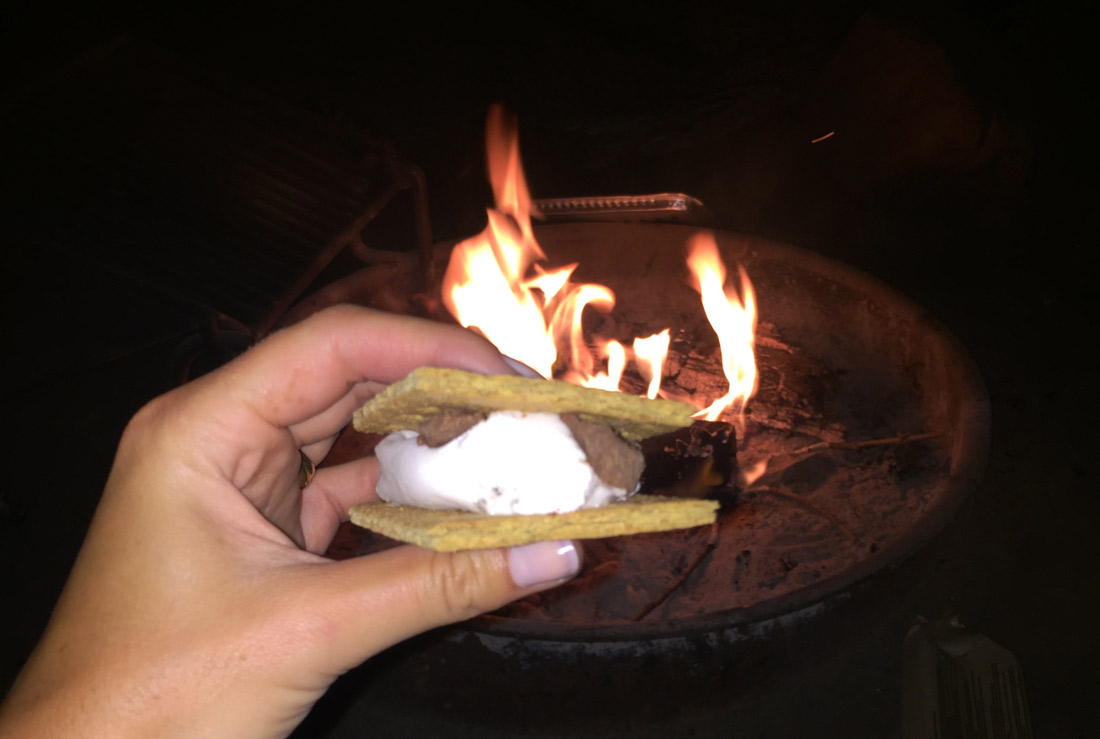 Bag-at-you---Travel-blog---Smores-while-Camping-in-Yosemite